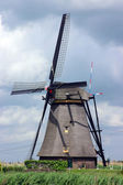 Old Windmill in Dutch Countryside (Vertical Shot) — Stock Photo