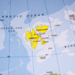 Stock Photo: Map of Svalbard - Detail