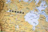 Karta över kanada - detalj — Stockfoto