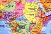 Map of Central Africa Region — Stock Photo