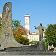 Stock Photo: Sjevshenko monument in Lviv, Ukraine