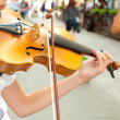 Stock Photo: Play on violin