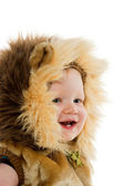 Boy in lion costume — Stock Photo