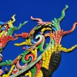 Colorful Chinese temple roof top — Stock Photo