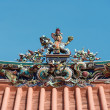Chinese temple roof - Stock Photo