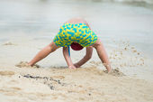 Having fun on the beach — Stock Photo