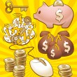 Set to make money — Stock Vector