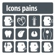 Stock Vector: Icons pains