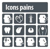 Icons pains — Stock Vector