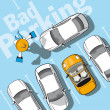 Bad parking - Stock Vector