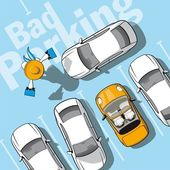 Bad parking — Vettoriale Stock