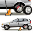 Tire repairs - Grafika wektorowa