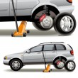 Tire repairs - Stockvectorbeeld