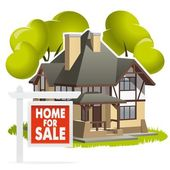 House for sale — Stock Vector