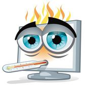 PC overheating — Stock Vector