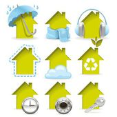 Housing icons — Stock Vector
