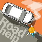 Road Help — Stock Vector