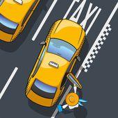 Taksówką — Wektor stockowy