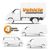 Vehicle Commercial — Stock Vector