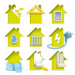 Home Construction Icons — Imagen vectorial