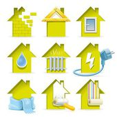 Home Construction Icons — Stock Vector