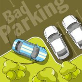 Bad parking — Stock Vector