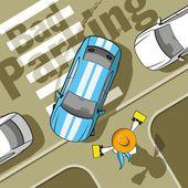 Bad parking — Stock Vector