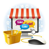 Internet Shop — Vettoriale Stock