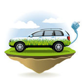 Eco coche — Vector de stock