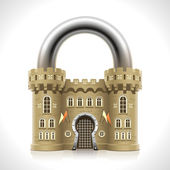 Castle Padlock — Stock Vector