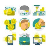 Flat Banking icons — Stock Vector