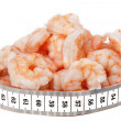 Stock Photo: Shrimps and metre