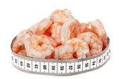 Shrimps and metre — Stock Photo