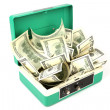 Royalty-Free Stock Photo: One hundred dollars banknotes in cash box