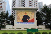 Monuments and architecture of Pyongyang — Stock Photo