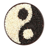 Black and white rice — Stock Photo