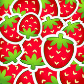 Background of strawberries — Stock Vector
