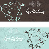Wedding announcement with doves — Stock Vector
