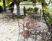 Abandoned garden tavern — Stock Photo