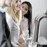 Women enjoying a glass of wine — Stock Photo #23021668