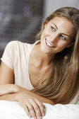 Woman relaxing at home — Stock Photo