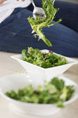 Preparing a salad — Stock Photo