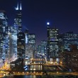 chicago a noite — Foto Stock #18277675