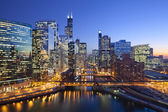 Město chicago — Stock fotografie