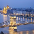 Image of Budapest, capital city of Hungary, during twilight blue hour. — Stock Photo #28465945