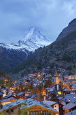 Zermatt and Matterhorn. — Stock Photo