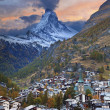 Zermatt and Matterhorn. — Stock Photo #34956523