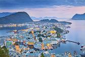 Alesund, norsko. — Stock fotografie