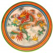 Dragon painting on wall — Stock Photo