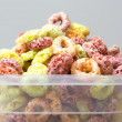 Cereal loops in box closeup — Stock Photo